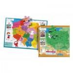 Puzzle  Clementoni-50021 Carte de la Pologne