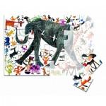 Puzzle  Clementoni-50165 Pièces XXL - Eléphant