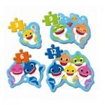 Baby Shark - 4 Puzzles Evolutifs (3/6/9/12 Pièces)