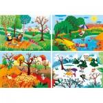 Les 4 Saisons - 4 Puzzles Evolutifs (20/60/100/180 Pièces)