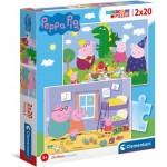 Puzzle   Peppa Pig Supercolor Pig (2x20 Pièces)