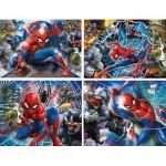 Spiderman - 4 Puzzles Evolutifs (20/60/100/180 Pièces)