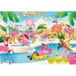 Puzzle   Supercolor Flamingo Party - Effet Brillant
