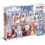 Superkit 4 en 1 - Frozen 2 (2 Puzzles + Memory + Domino)