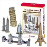 Cubic-Fun-C056H Puzzle 3D - Série mini Architectures : Monuments du monde (Difficulté : 4/8)