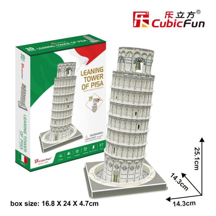 Puzzle 3D - Tour de Pise, Italie - Difficulté : 4/8