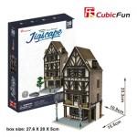 Cubic-Fun-HO4104h Puzzle 3D - Jigscape Collection - Tudor Restaurant (Difficulté: 5/6)