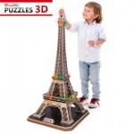 Cubic-Fun-L091H Puzzle 3D avec LED - La Tour Eiffel - Difficulté : 6/8