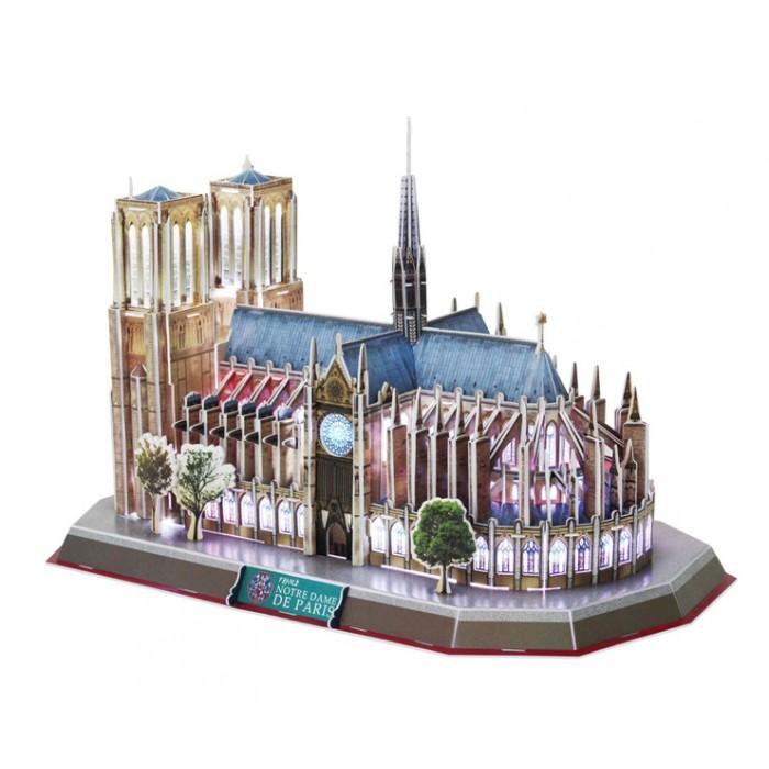 Puzzle 3D avec LED - Notre Dame de Paris - Difficulté : 6/8