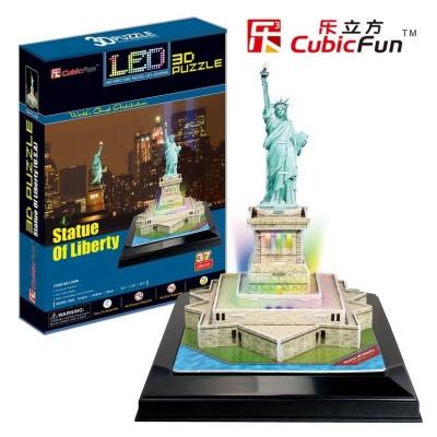 Cubic-Fun-L505H Puzzle 3D avec LED - Statut de la Liberté