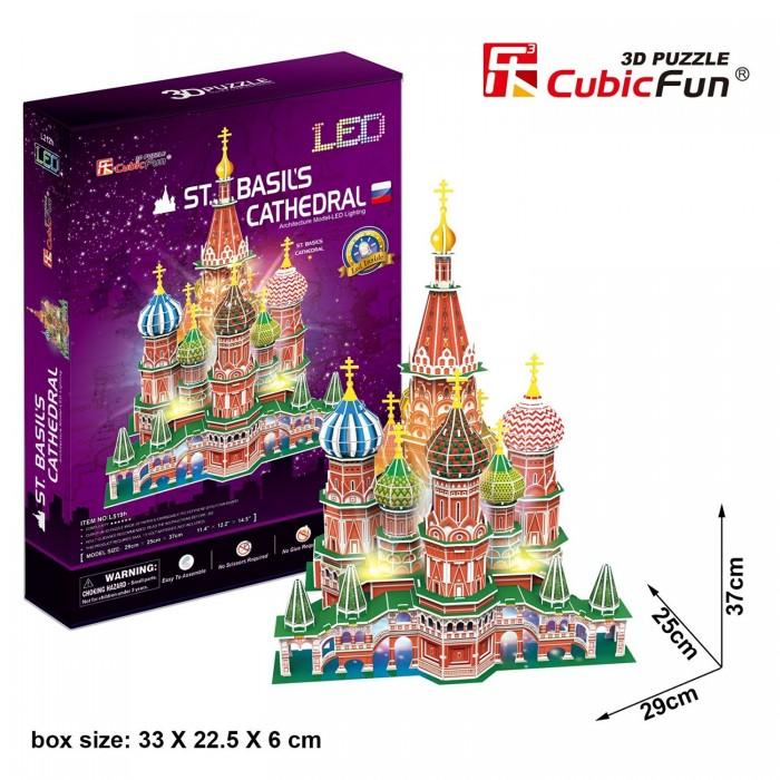 Puzzle 3D avec LED - Cathédrale Saint-Basile, Moscou - Difficulté 6/8