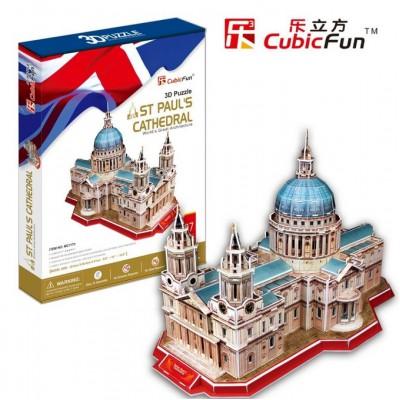 Cubic-Fun-MC117H Puzzle 3D - Royaume Uni : Cathédrale Saint-Paul de Londres (Difficulté : 6/8)