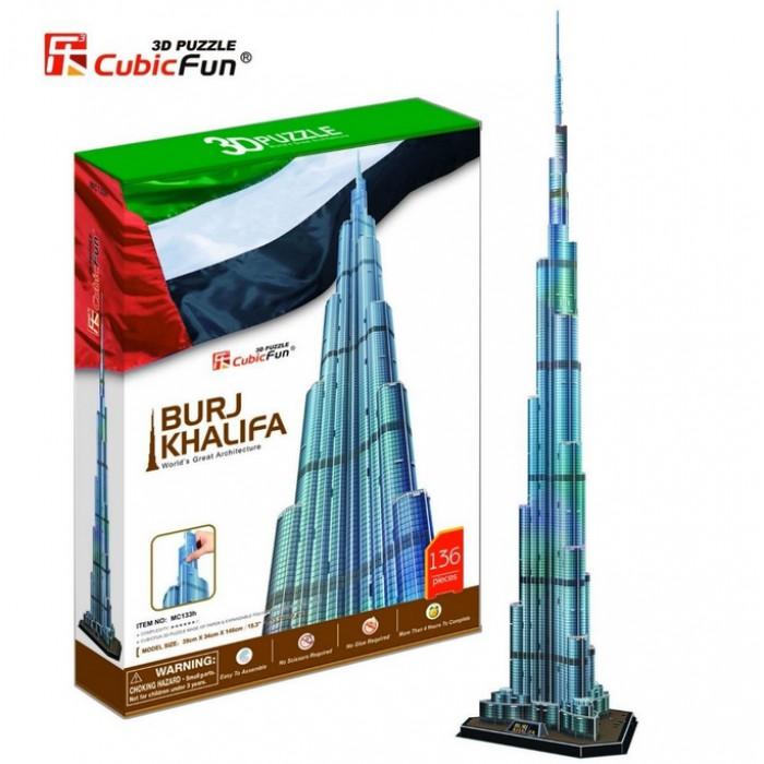 Puzzle 3D - Dubaï : Burj Khalifa (Difficulté : 8/8)