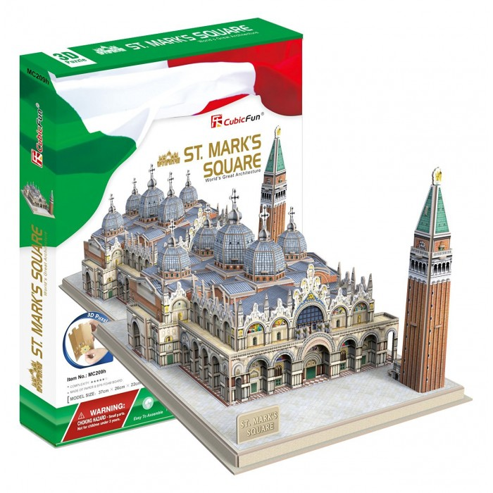 Puzzle 3D - Place Saint-Marc (Difficulté: 5/8)