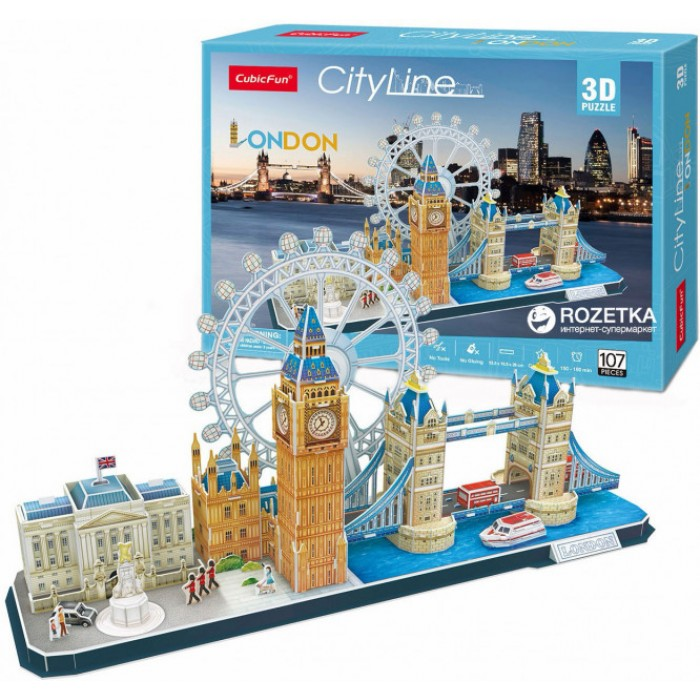 Puzzle 3D - Londres - Difficulté : 4/8