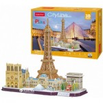 Cubic-Fun-MC254h Puzzle 3D - Paris- Difficulté : 4/8