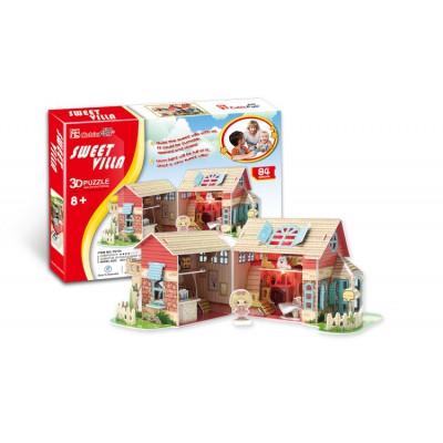 Cubic-Fun-P615H Puzzle 3D - Maison de poupées (Difficulté : 4/8)