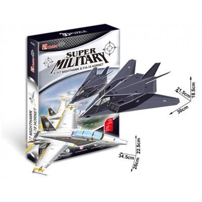 Cubic-Fun-P629H Puzzle 3D - F-117 Nightawk & F/A-18 Hornet