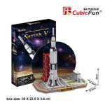 Cubic-Fun-P653H Puzzle 3D - Saturn V (Difficulté : 4/8)
