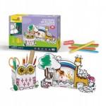 Cubic-Fun-P695h Puzzle 3D - Porte-stylo Hibou et Cadre Photo Girafe