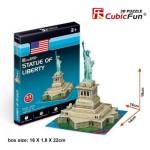 Puzzle 3D Mini - Statue de la Liberté - Difficulté : 2/8