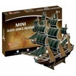 Puzzle 3D Mini - The Queen Anne's Revenge - Difficulté : 2/8