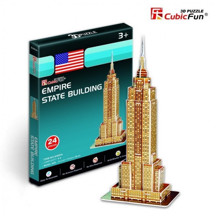 Puzzle 3D Série Mini - New-York : Empire State Building (Difficulté : 2/8)