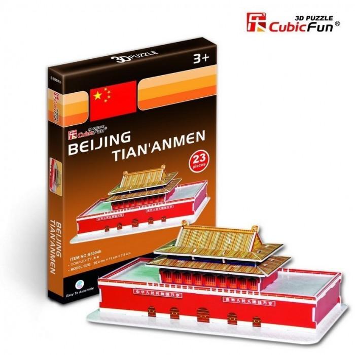 Puzzle 3D Série Mini - Chine, Pékin : Tian' Anmen (Difficulté 2/8)