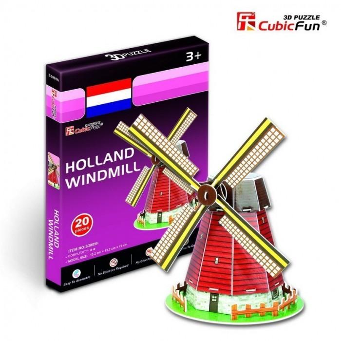 Puzzle 3D Série Mini - Moulin des Pays-Bas (Difficulté 2/8)