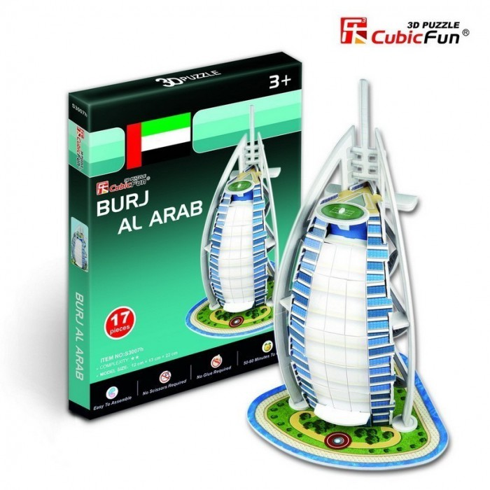 Puzzle 3D Série Mini - Émirats Arabes Unis : Burj Al Arab (Difficulté 2/8)