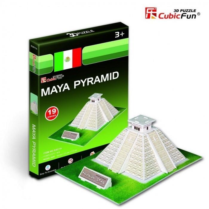Puzzle 3D Série Mini - Pyramide Maya (Difficulté 2/8)