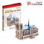 Cubic-Fun-S3012H Puzzle 3D Série Mini - France, Paris : Cathédrale Notre-Dame (Difficulté 2/8)