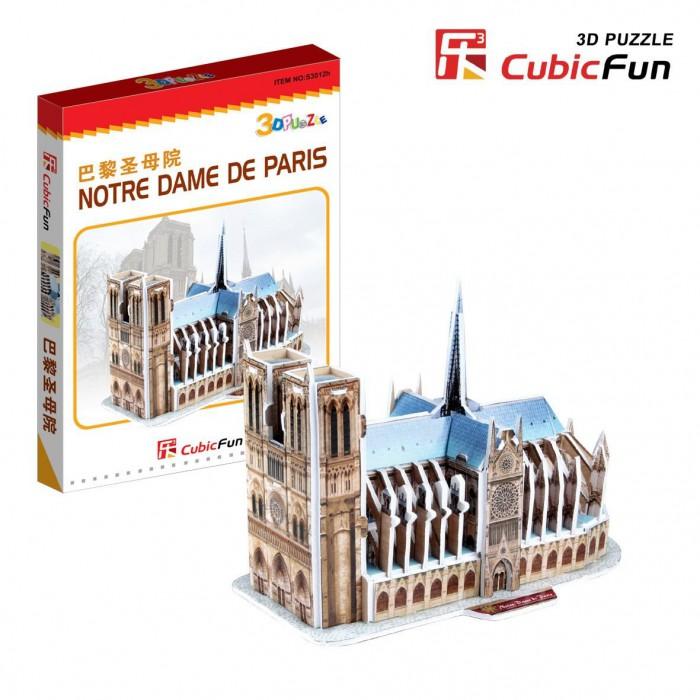 Puzzle 3D Série Mini - France, Paris : Cathédrale Notre-Dame (Difficulté 2/8)