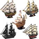 Cubic-Fun-Set-Boat 5 Puzzles 3D - Set Voiliers