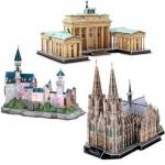 Cubic-Fun-Set-Deutschland 3 Puzzles 3D - Set Allemagne