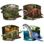 Cubic-Fun-Set-Dinosaur 4 Puzzles 3D - Set Dinosaure