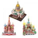 Cubic-Fun-Set-Russian 3 Puzzles 3D - Cathédrales Russes