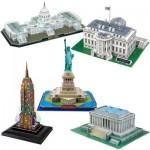 Cubic-Fun-Set-USA 5 Puzzles 3D - Set Etats-Unis