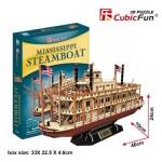 Cubic-Fun-T4026h Puzzle 3D - Bateau à Vapeur du Mississipi (Difficulté: 5/8)