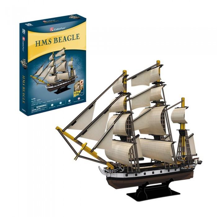 Puzzle 3D - HMS Beagle - Difficulté : 5/8