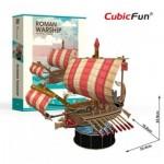 Cubic-Fun-T4032h Puzzle 3D - Roman Warship - Difficulté: 4/6