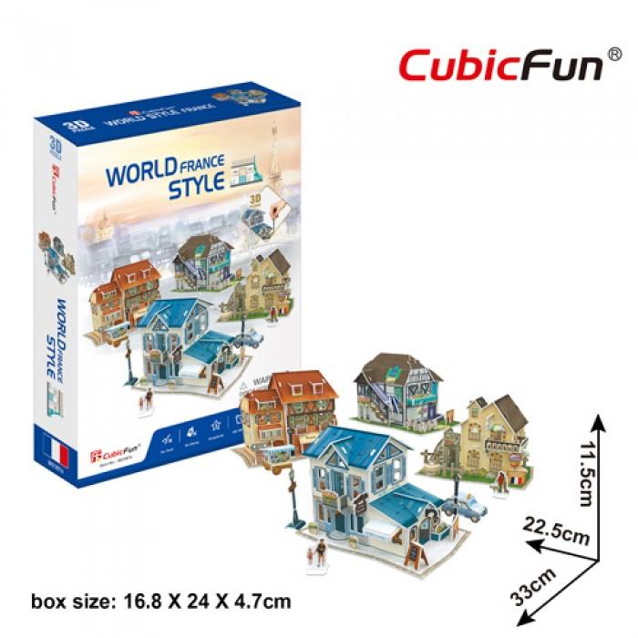 Puzzle 3D - 3D World Style - France - Difficulté: 4/6