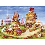 Puzzle en Bois - La Montagne aux Gâteaux
