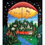 HCM-Kinzel-69111 Puzzle en Bois - Jour et Nuit