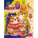 HCM-Kinzel-69119 Puzzle en Bois - Les Chats dans le Placard