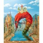 HCM-Kinzel-69122 Puzzle en Bois - Crevette Rouge