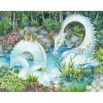 HCM-Kinzel-69139 Puzzle en Bois - Un Dragon dans la Forêt