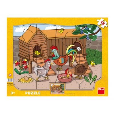 Puzzle Dino-30310 Animaux de la Ferme