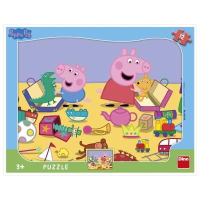 Dino-30311 Puzzle Cadre - Peppa Pig