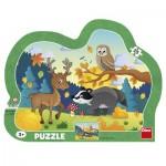 Dino-31138 Puzzle Cadre - Animaux de la Forêt